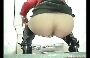 Silent toilet webcam in a Tokio discoteque