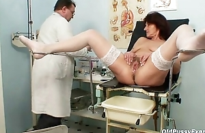 Victorian pussy grandma visits pervy spread out doctor