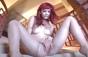 Redhead toe sucking together with hose curse at