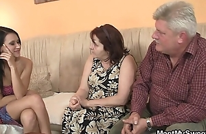 He finds his GF fucking his family