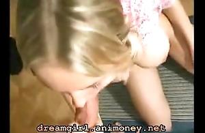 Innocent girl round stupefying transparent tits