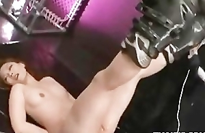 Asian Greased And Made To Orgasm