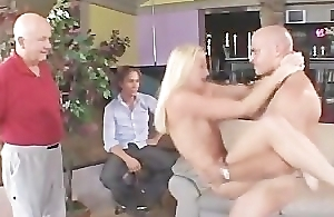 Well done blonde wed drilled and had a facial
