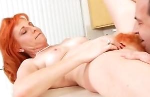 Perishable firecrotch milf sucking cock