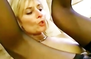 Fair-haired mature cheats on the brush husband