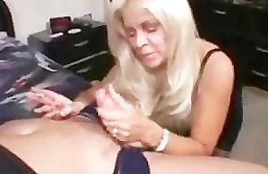 Blonde of age cougar smoking sex