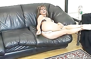Big titted instructor's barely satisfactory jerk off demonstration