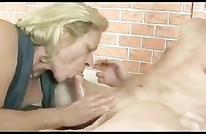 Horny Of age blow