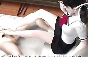 Unemaro 3D manga footjob