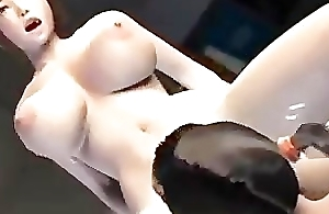 Unemaro 3D anime Threesome just about two suggestive girls