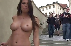 MonaLee Shows Her Boob In Overturn Streets