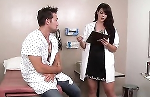 Downcast dark haired doctor likes fucking say no to patients