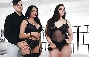 Several torrid latinas getting their viscous pussies wrecked