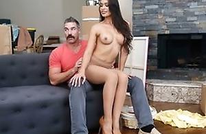 Dazzling latina with big juggs seduces and fucks her neighbor