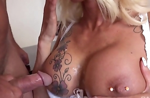 Lusty scrivener nearby black stockings tempted her boss