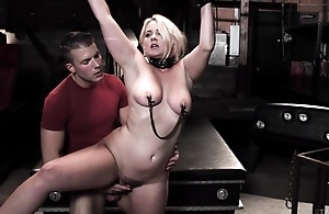 Chubby blonde woman acquires tied up and drilled by her stepson