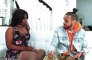 Sappy ebony cheats on fiance with their way ex-boyfriend