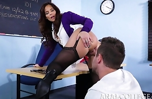 Nasty teacher enticed Van into shafting her asshole