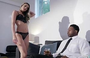 Horny darkey connected with a hefty dick assfucks his personal assistant