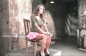 Sexy leader slut tied and bound hard