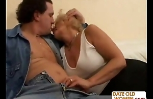 Granny Open her Mouth for Young Sex cream
