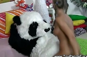Horny pigtail teen gets banged by toypanda
