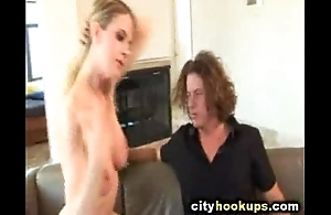 Hot Lord it over Blonde Girl Sucks Dramatize expunge Hell Out Of Her Boyfriend'_s Huge Cock