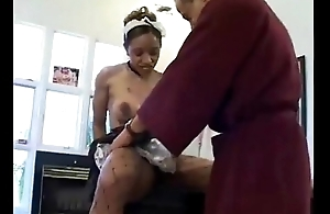 Obese Ass Baleful Maid Ayana Punter Receives Pumped and Creamed