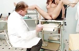 Sexy blond babe vagina examination and enema