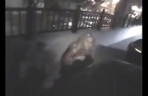 Gals Peeing after dark