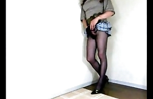 Japanese Crossdresser Pantyhose Movie Cotomi03