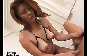 Uncensored Japanese Girl-Girl Strap-on Dildo Sex