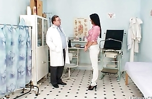 Brunette babe Melissa Ria and dirty gyno doctor