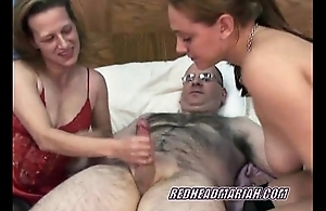 Swinging Mariah in a threesome with a mini MILF