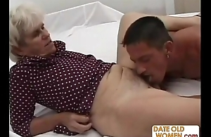 Grandma gets abyss fucked by a young cock