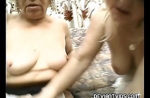 Grandmas strike at each other'_s pussy